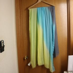 Like New Prana Ombre Modal Scarf Blue Yellow OS
